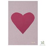 Manta em Algodão Orgânico Dupla Face Coração Natural e Pink - Chamomilla
