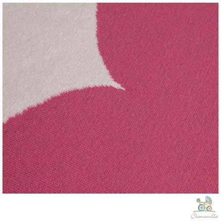 Manta em Algodão Orgânico Dupla Face Coração Natural e Pink - Chamomilla, Não se aplica, 03 meses