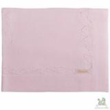 Manta de Colo Chamomilla em Tricô Flores Rosa