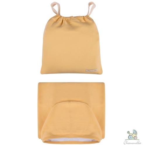 Toalha de Banho com Capuz Amarela - Chamomilla, Amarelo, Banho, Algodão e Poliéster, 1, Sim, 03 meses