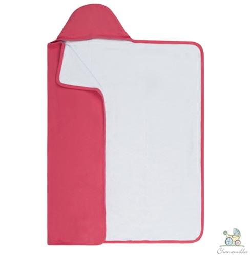 Toalha de Banho com Capuz Pink - Chamomilla, Pink, Banho, Algodão, 1, Sim, 03 meses