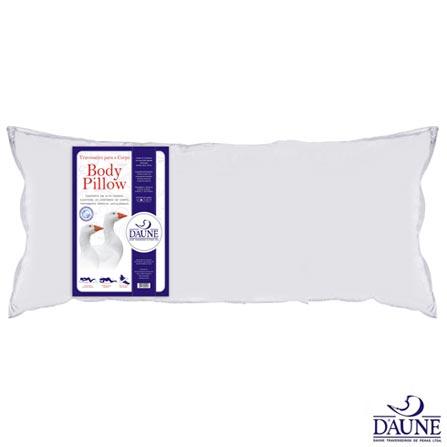 Travesseiro para o Corpo 50x150 cm Branco - Daune, Branco, Não, Não, Sim, Sim, 03 meses