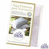 Capa Protetora para Travesseiro Daune 50x150 cm  com 200 Fios, Impermeabilizado Branco