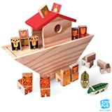 Arca de Noé com 16 Peças em Madeira - Kitopeq