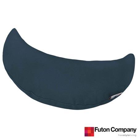Almofada Lua Sarja Delavê Azul - Futon Company, Azul, Algodão e Fibra siliconada, 03 meses