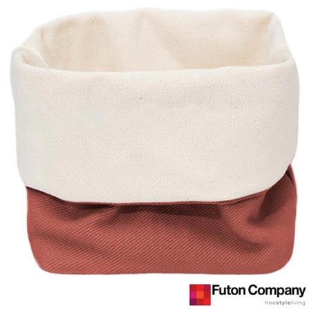 Cesto Basket P com 2,5 Litros Porcelana Rosa - Futon Company, Rosa, Algodão, 03 meses