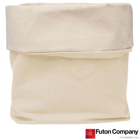 Cesto Basket G Futon Company com 13,7 Litros Cru, Bege, Algodão, 03 meses