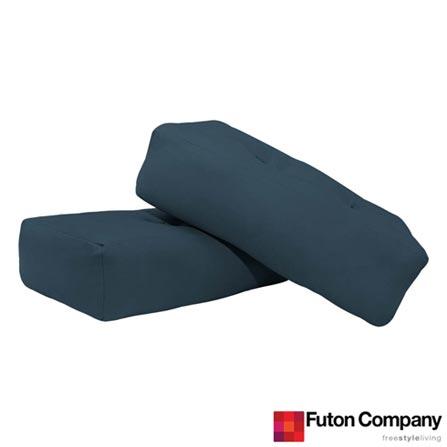 Kit para Poltrona Thruki Futon Company em Sarja Delave Azul, Azul, Tecido, espuma e algodão, 03 meses