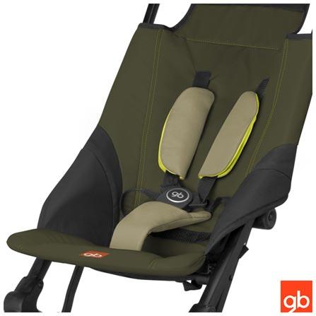 Carrinho de Bebê Pockit Verde - GB, Verde, Aluminio, Polietileno e Tecido, 6 meses, 17 kg, 24 meses