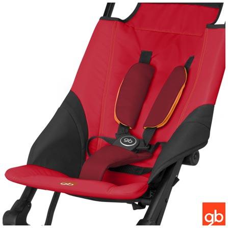 Carrinho de Bebê Pockit Vermelho - GB, Vermelho, Aluminio, Polietileno e Tecido, 6 meses, 17 kg, 24 meses