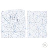 Jogo de Lençóis para Berço com 02 Peças Triangulo Azul - Tribeca Enxovais