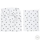 Jogo de Lençóis para Berço com 02 Peças Estampado Mini Triângulo Preto - Tribeca Enxovais