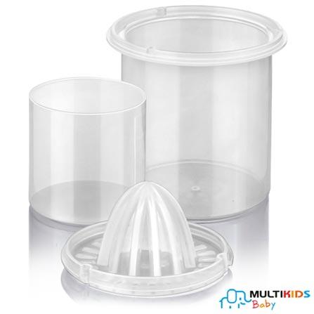 Aquecedor de Mamadeiras e Alimentos Multikids Elétrico Branco BB00, 110V, 220V, Branco, Plástico ABS, 3, 12 meses