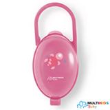 Porta Chupeta Multikids Paci Clean com Fechamento com Click Rosa - BB142