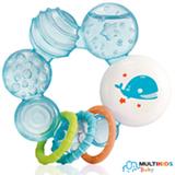 Mordedor Multikids Baby Cool Play com Gel Azul
