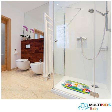 Tapete para Banho Multikids Baby Safe Bath em PVC Transparente, Não se aplica, PVC, 1, 03 meses