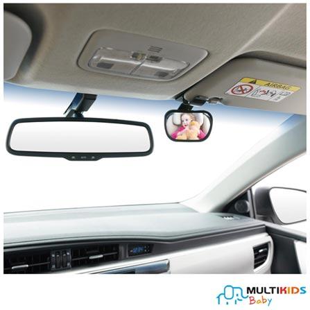 Espelho Retrovisor 2 em 1 Multikids Baby Safe Travel, Plástico, 03 meses