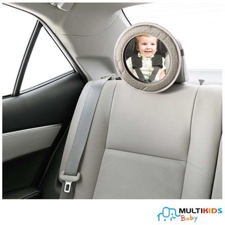 Espelho Retrovisor para Banco Traseiro Multikids Baby Look, Cinza, Plástico, 03 meses