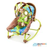 Cadeira de Balanço para Bebês 0 a 20 kg Macaco -  Multikids Baby