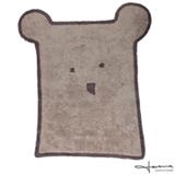 Tapete Infantil Lorena Canals Bear Linen Urso Linho e Cinza Escuro