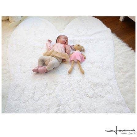 Tapete Infantil Lorena Canals Silhouette Wing em Algodão Branco, Branco, Algodão, 01 mês