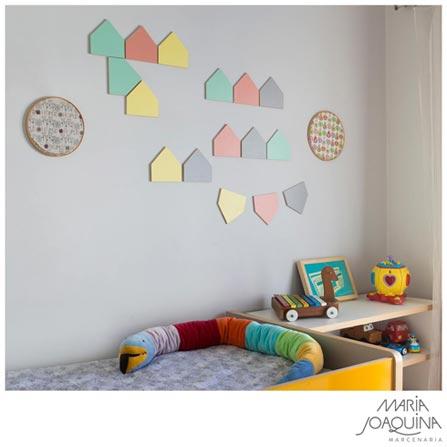 Kit Decorativo Platz Casinha com 16 Peças Colorido - Maria Joaquina, Colorido, Compensado e laminado
