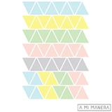 Cartela de Adesivos de Parede em Vinil Triângulos Coloridos AD001 - A Mi Manera
