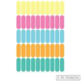 Cartela de Adesivos de Parede em Vinil Bastões Coloridos AD003 - A Mi Manera