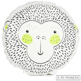 Almofada de Decoração Redonda Macaco Wild Life - A Mi Manera