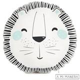 Almofada de Decoração Redonda Leão Wild Life - A Mi Manera