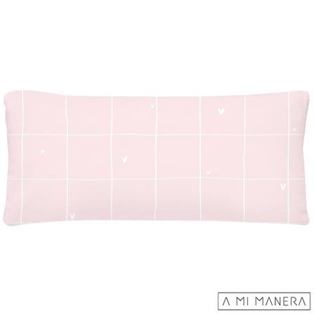 , Rosa e Branco, Algodão e Fibra siliconada, 03 meses