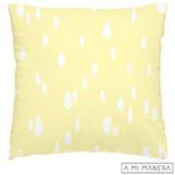 Almofada de Decoração Gotas Amarela e Branco - A Mi Manera