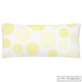 Almofada de Decoração Bolas Branco e Amarelo - A Mi Manera