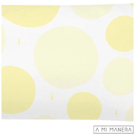 , Branco e Amarelo, Algodão, 03 meses