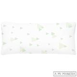 Almofada de Decoração Setas Branca e Verde - A Mi Manera