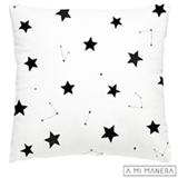 Almofada de Decoração Constelação Branco e Preto - A Mi Manera
