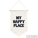 Flag de Parede My Happy Place 100% Algodão - A Mi Manera