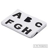 Manta de Tricô ABC Branco e Preto - A Mi Manera