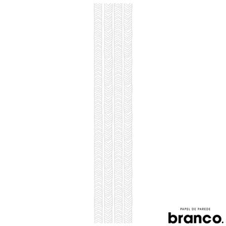 Papel de Parede Indo e Vindo Cinza - Branco. Papel de Parede, Não se aplica, Celulose e PVC, 60 meses, Com cola