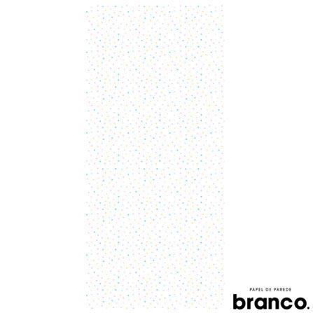 Papel de Parede Bolinha Colorido Menina Ana Strumpf - Branco. Papel de Parede, Não se aplica, Celulose e PVC, 60 meses, Com cola
