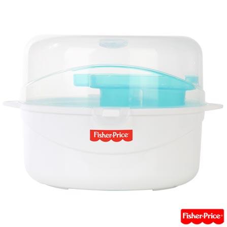 Esterilizador para Micro-ondas com Capacidade para 06 Mamadeiras BB304 - Fisher Price, Branco, 12 meses