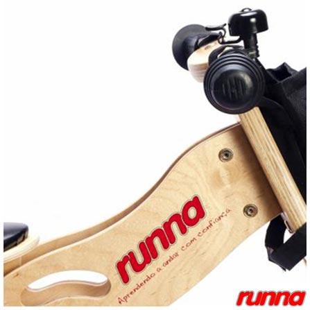 Bicicleta de Equilibrio em Madeira Aro 12 Preta - Runna Bike, Preto, Madeira, A partir de 24 meses, 06 meses
