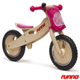 Bicicleta de Equilibrio em Madeira Aro 12 Rosa - Runna Bike