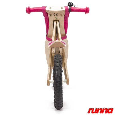 Bicicleta de Equilibrio em Madeira Aro 12 Rosa - Runna Bike, Rosa, Madeira, A partir de 24 meses, 06 meses