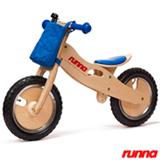 Bicicleta de Equilibrio em Madeira Runna Bike Aro 12 Azul