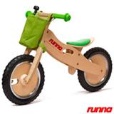 Bicicleta de Equilibrio em Madeira Runna Bike Aro 12 Verde