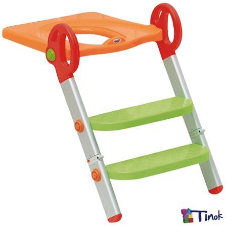 Redutor de Assento Toily Vermelho, Verde e Laranja - Tinok, Colorido, Redutores, Alumínio e PVC, 06 meses