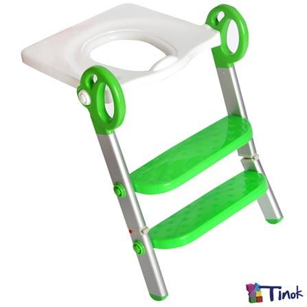 Redutor de Assento Toily Verde e Branco - Tinok, Verde e Branco, Redutores, Alumínio e PVC, 06 meses