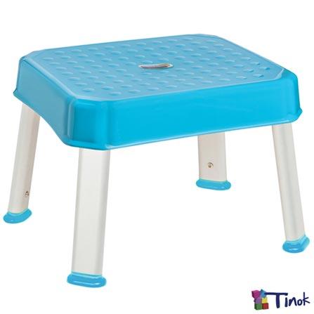 Banquinho Multitarefas Stooli Azul Turquesa - Tinok, Azul, Plástico, Não se aplica, 06 meses