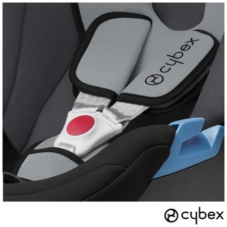Carrinho de Bebe Agis M-Air 3 Preto - Cybex - AGISMAIR3 + Bebe Conforto Aton Preto e Cinza + Adaptador M-Line, 1